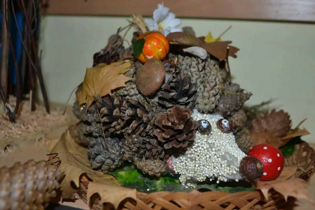 это картинки поделок осень из природного материала стоек