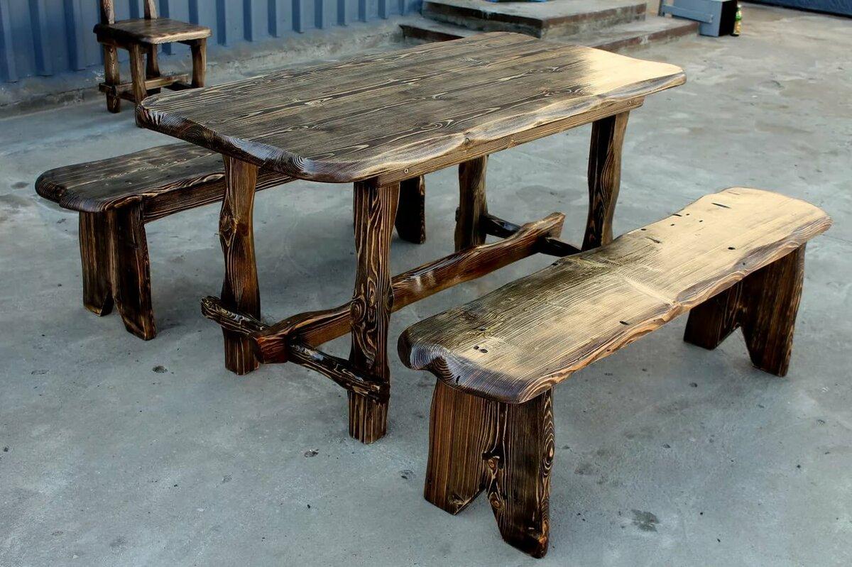 станет деревянные столы под старину фото этом рисунке авторские