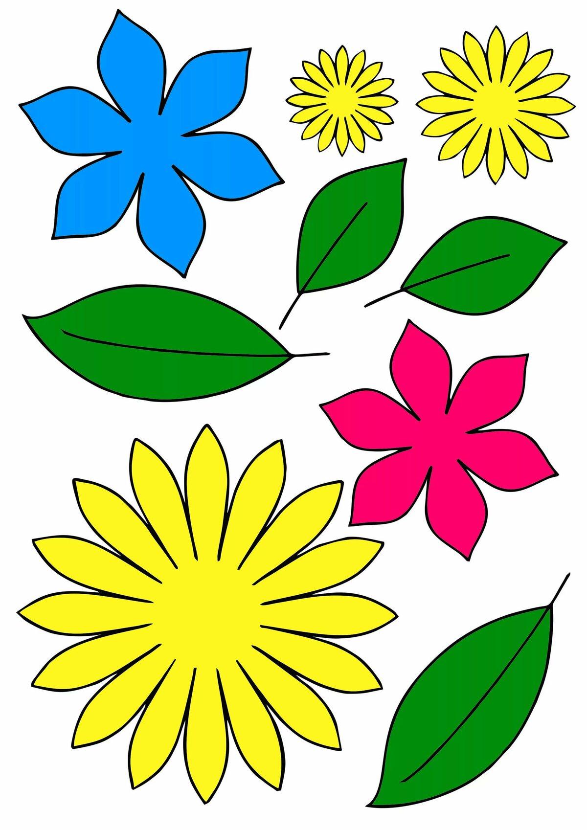Вырезать цветочки для открытки