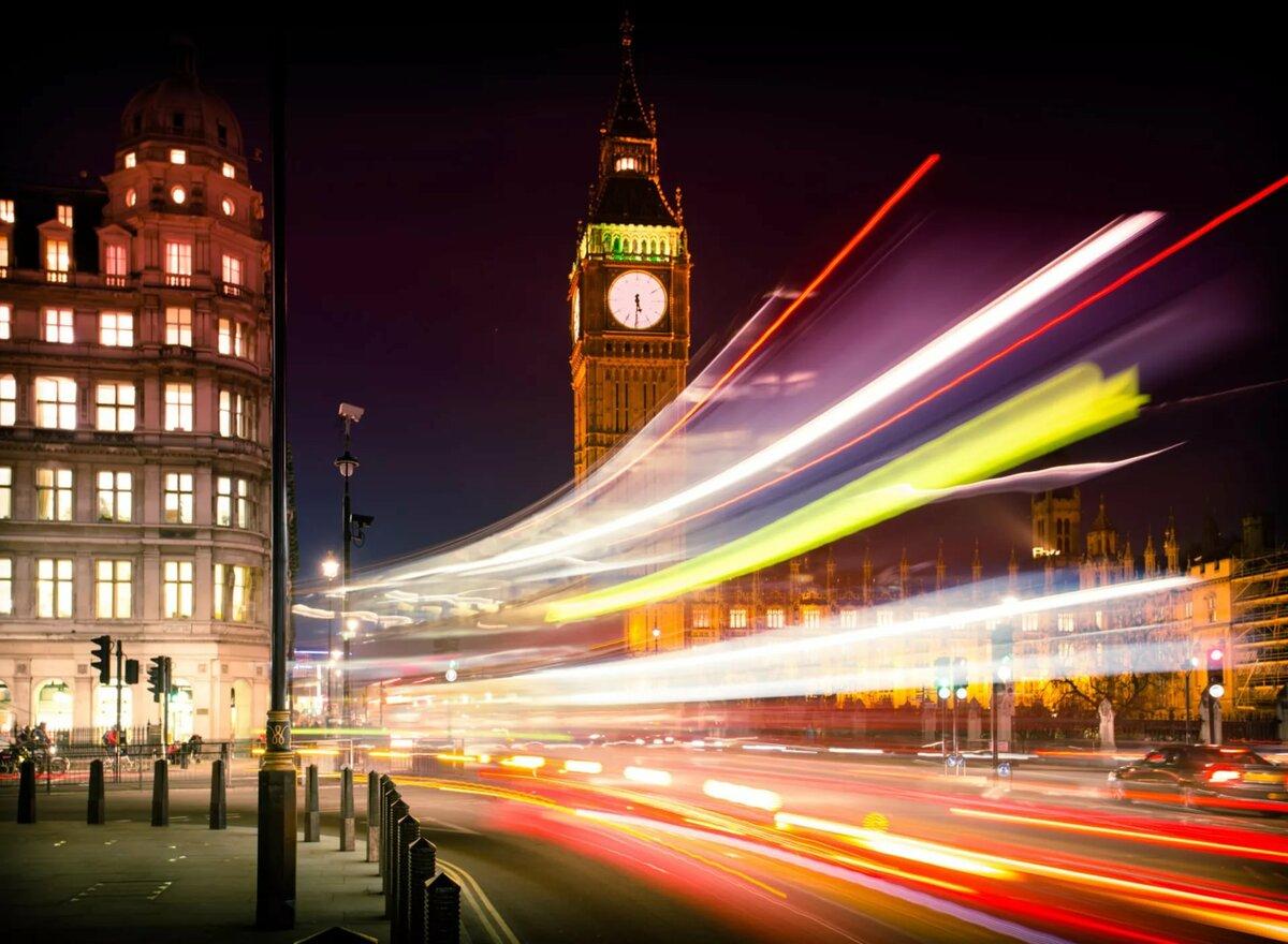 Лондон в ночи картинки