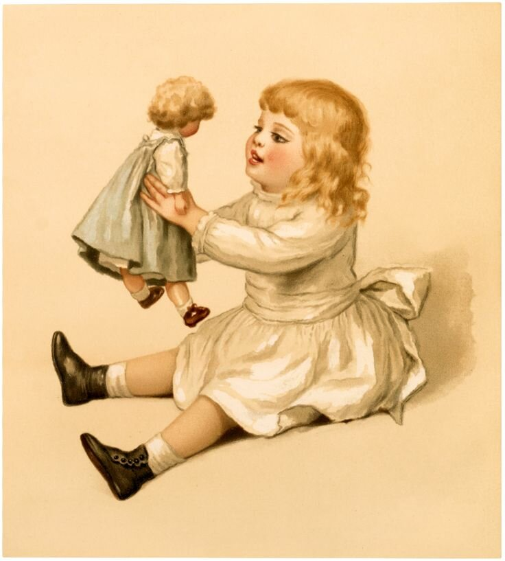 картинка кукла для декупажа или