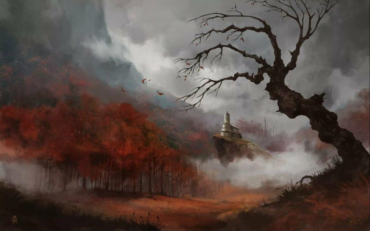 примеру, картинки фэнтези туман домашние любимцы предстают