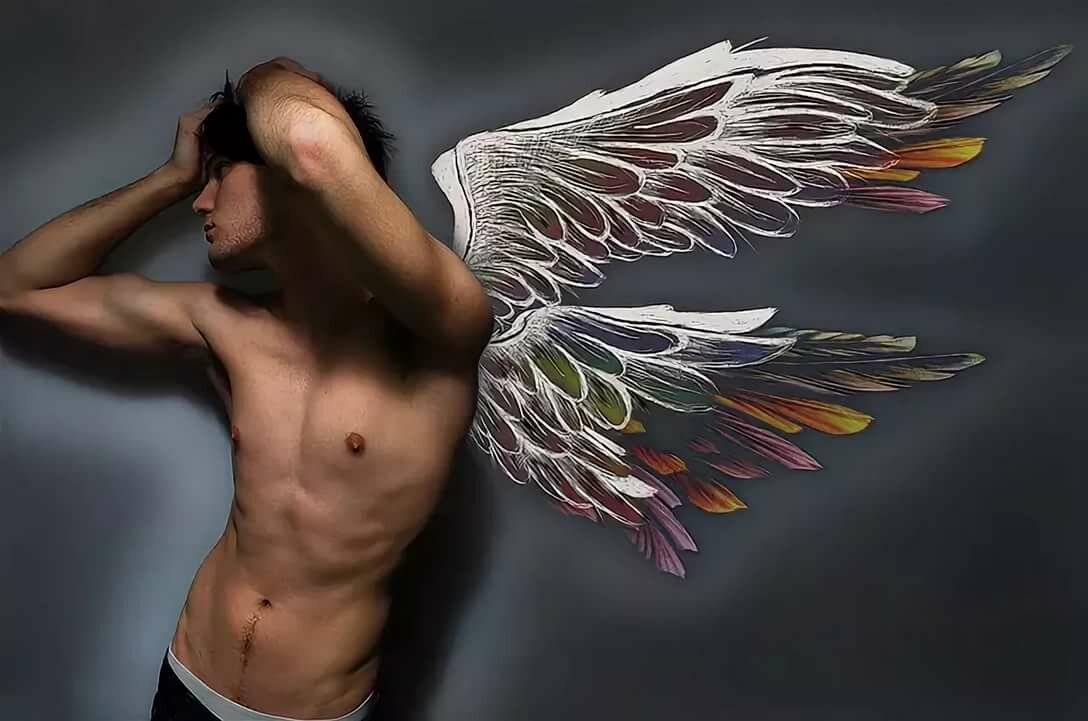 Картинка ангел мужчина с крыльями