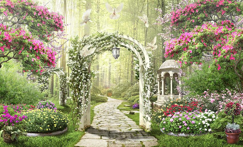 Картинки с цветочными арками