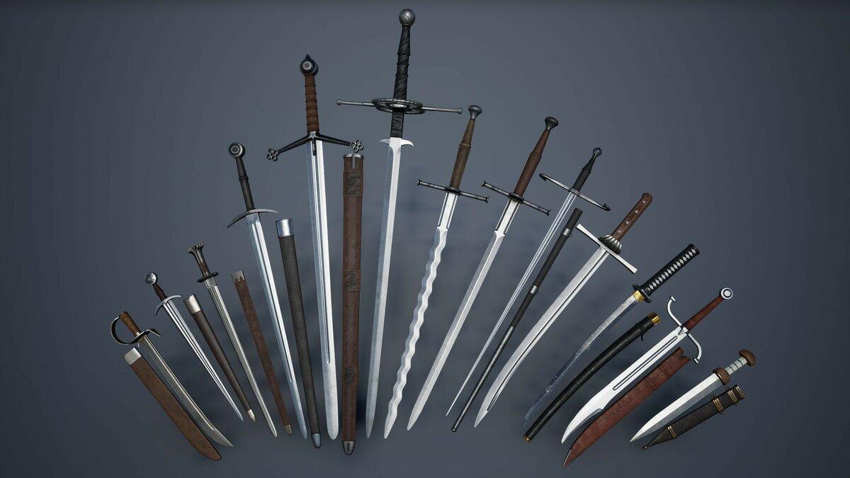 Название мечей и картинки