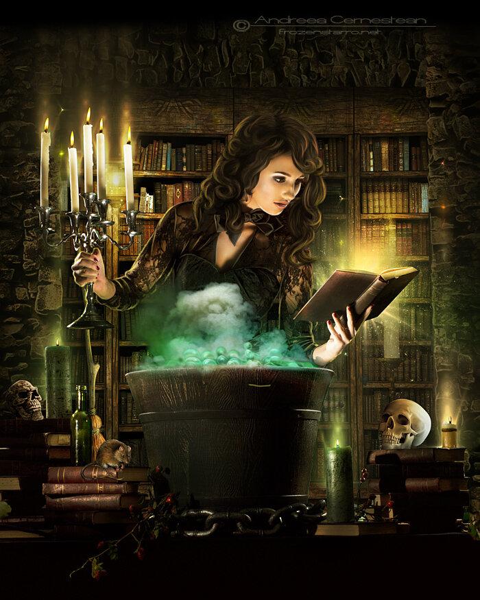 Книга ведьмы картинки