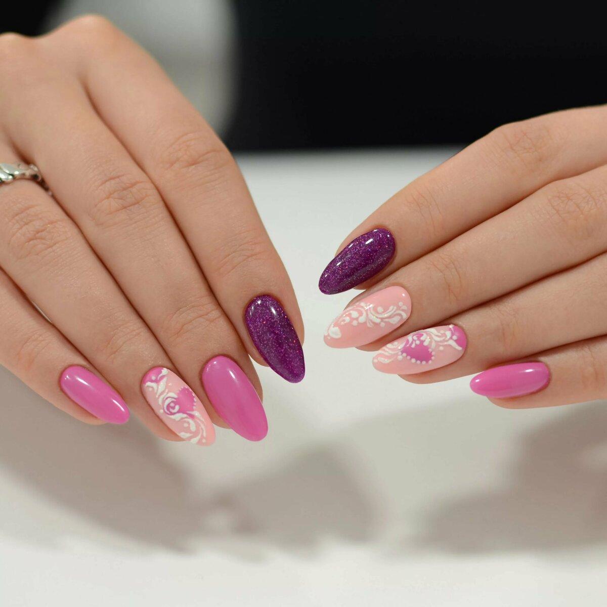 фото ногтей розовые с картинками что война позади