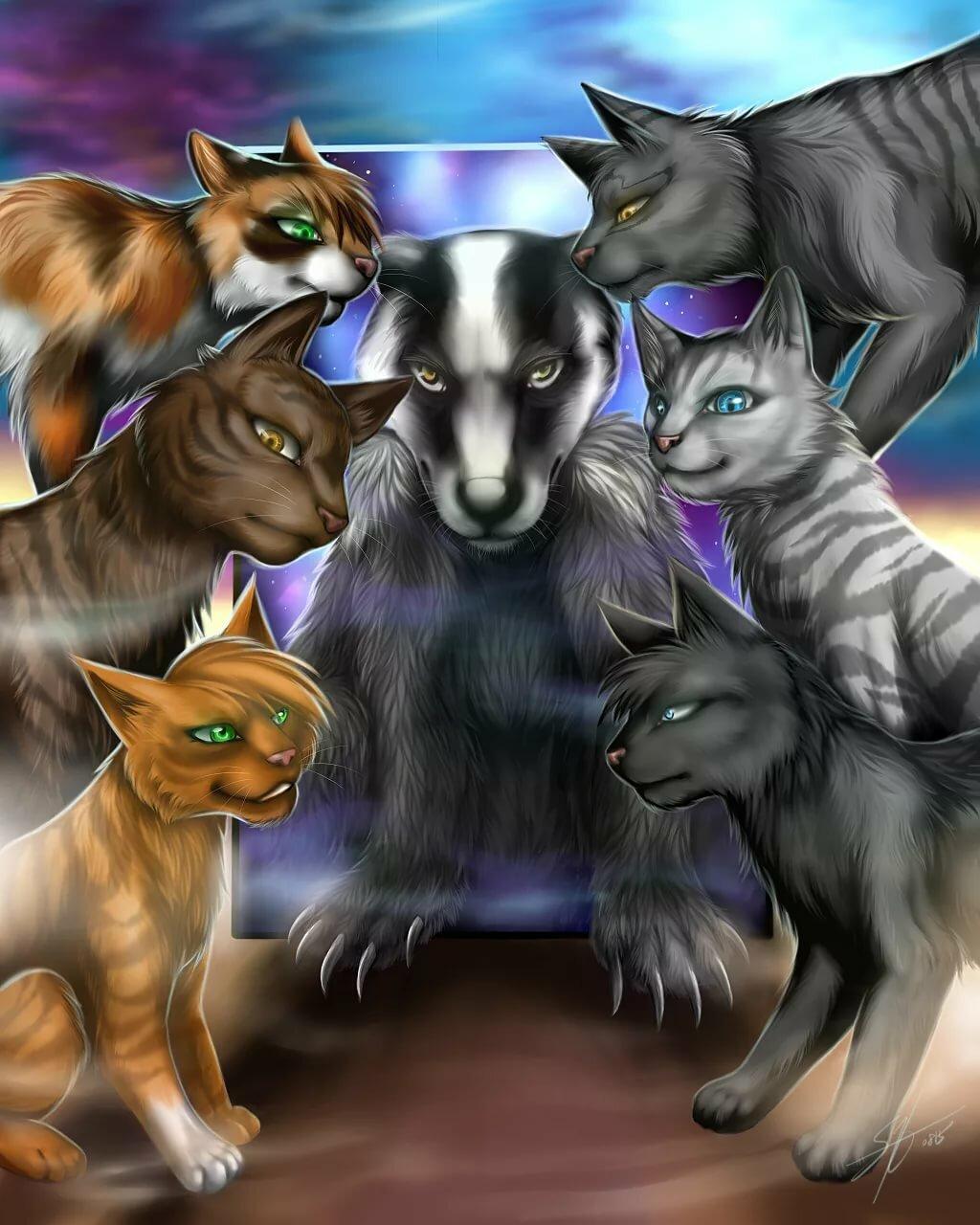 картинки с котами воителями племена материалы несут тепло