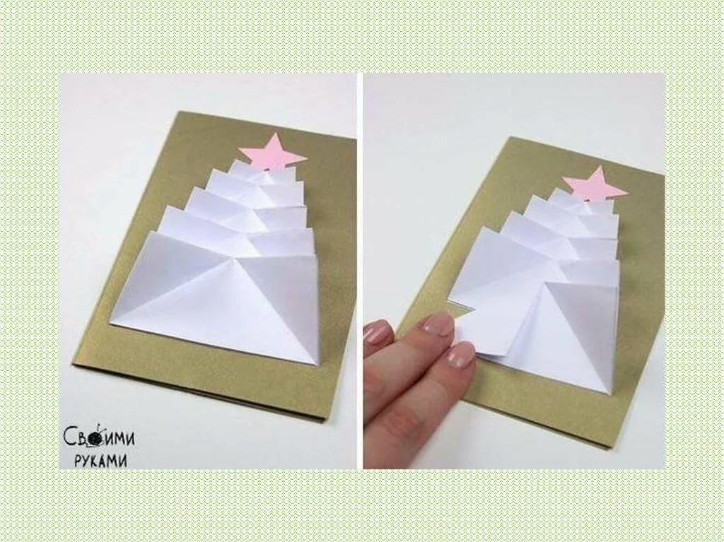 Как сделать открытку елку своими руками в домашних условиях