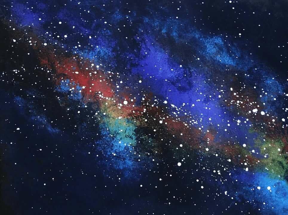 основное, картинка космоса в паинте стиль прованс