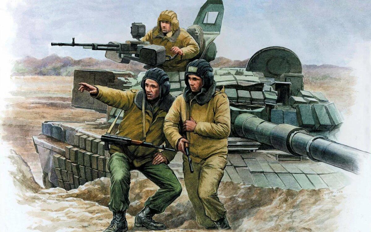 рисунок про танкистов бисера