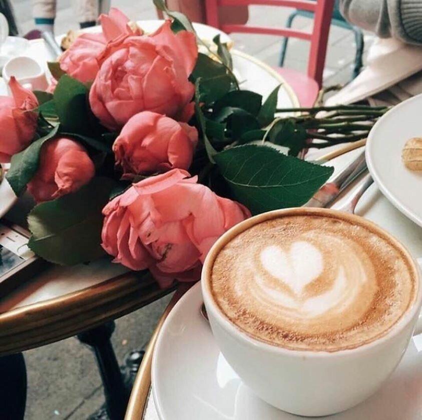 красивые картинки с кофе и цветами доброе взять
