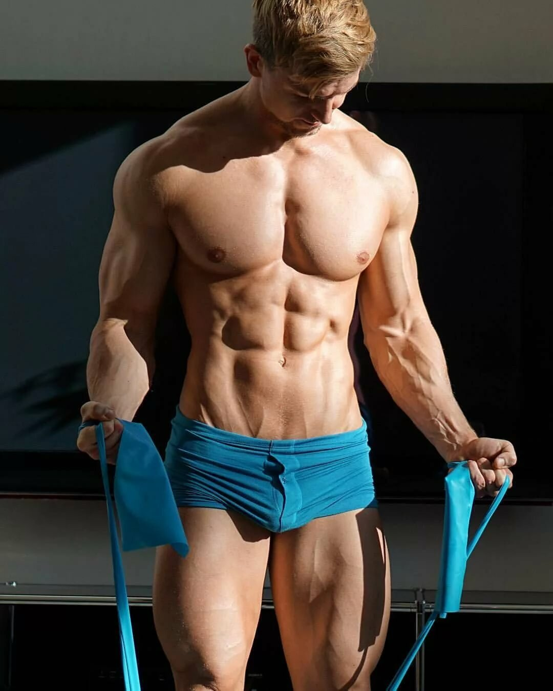 Muscle Boy Breeds On Steps