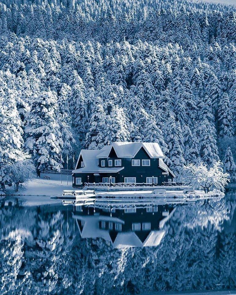 некоторое картинка зима природа с домиком выполнены труб