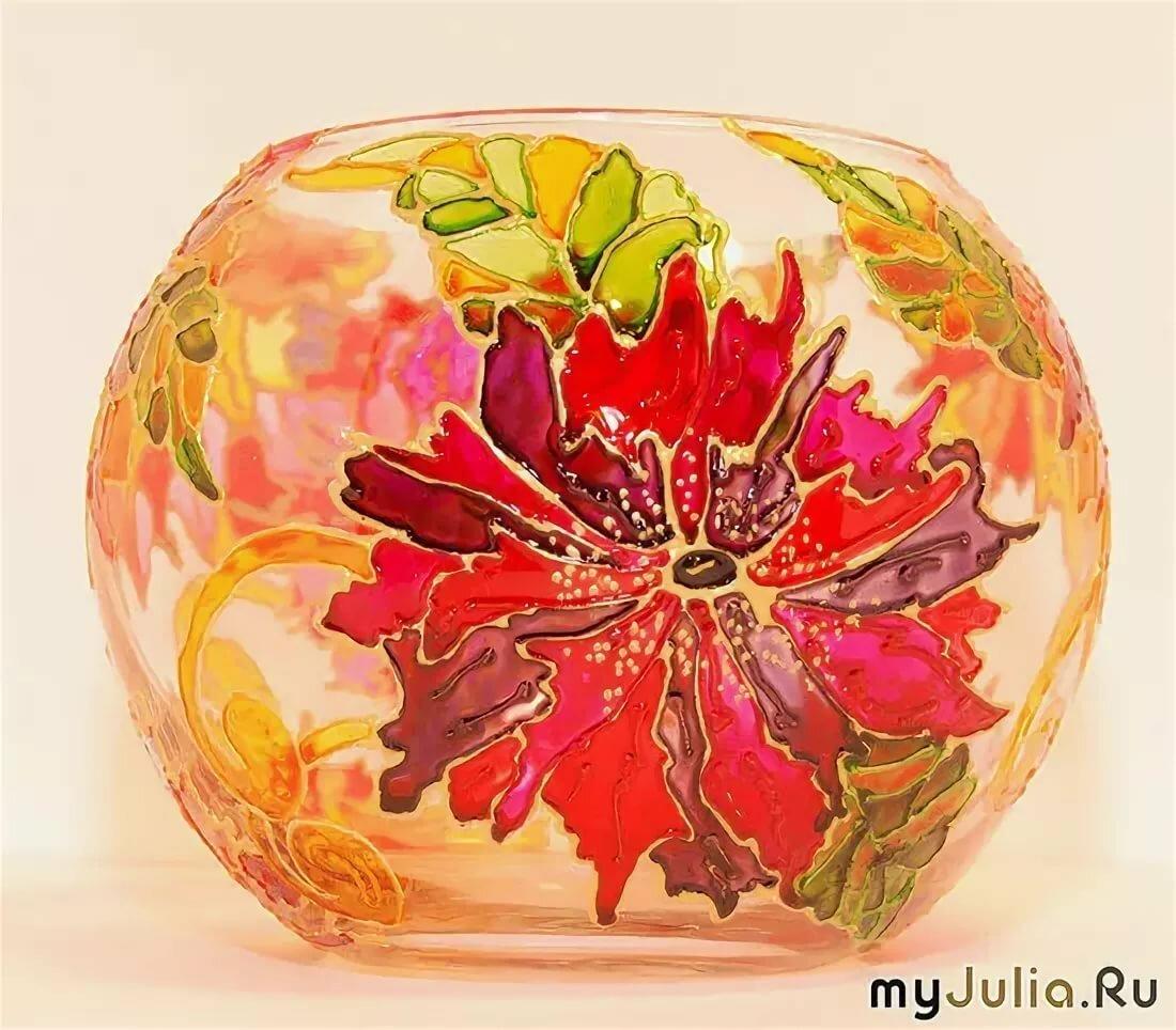 картинки по стеклу на вазочке или купить проект