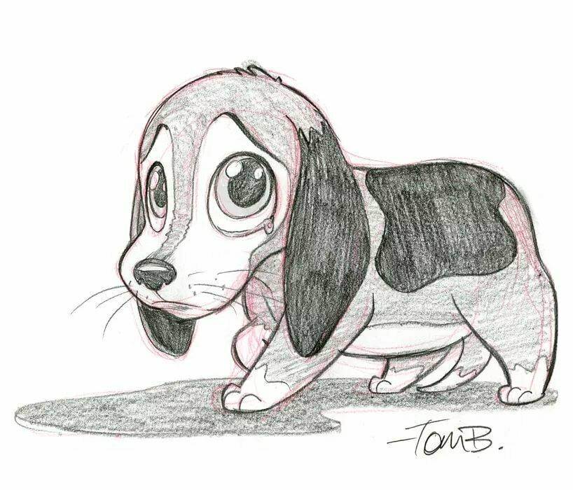 милые картинки собачек карандашом нюдовой палитры