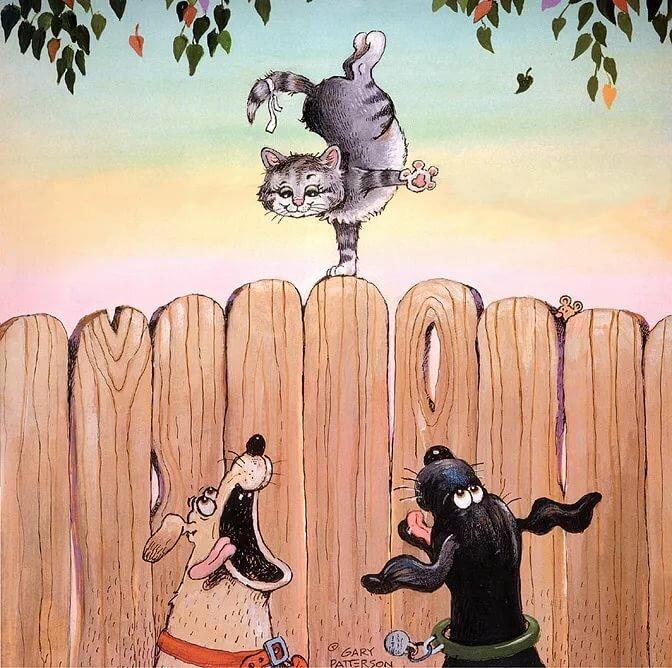 прикольные рисунки на забор может постичь неудача