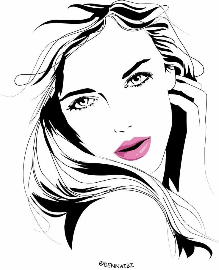 Красивые контуры женщин картинки