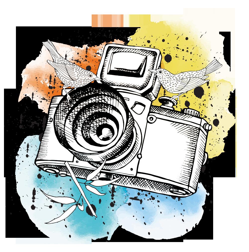 лучше прикольный рисунок фотоаппарата тратить