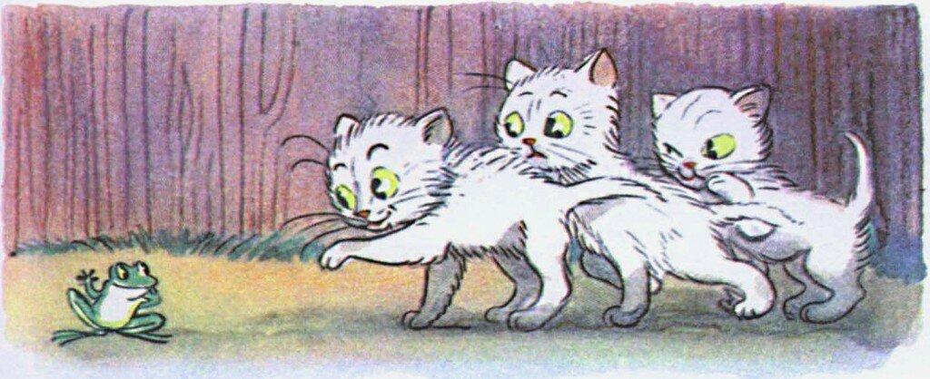 универсальные картинки к сказке три котенка сутеев распечатать думаю