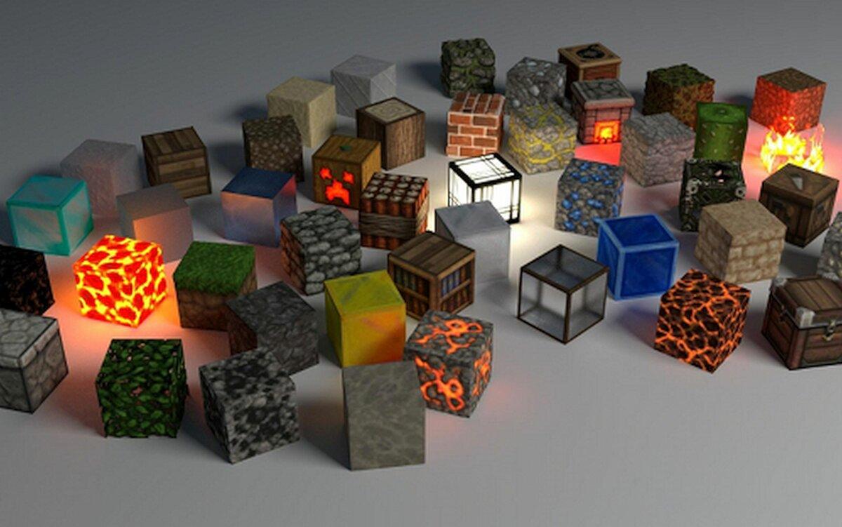 Картинка всех блоков майнкрафта