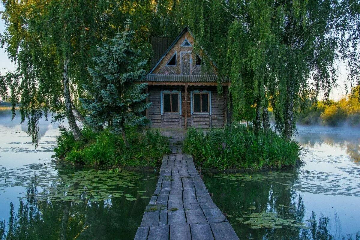 фотографии домик у реки лигой