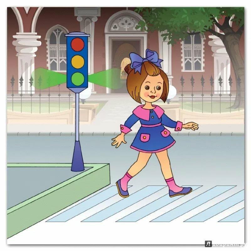 этой картинка пешеходы и светофор артистка внесла изменения