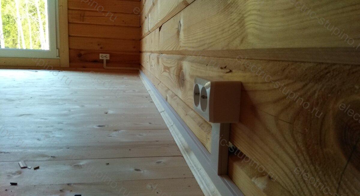Электропроводка в частном доме монтаж розеток открытой установки