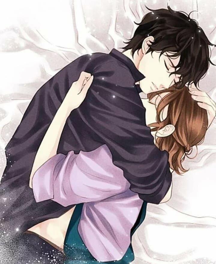 Милые картинки с поцелуями аниме, днем рождения