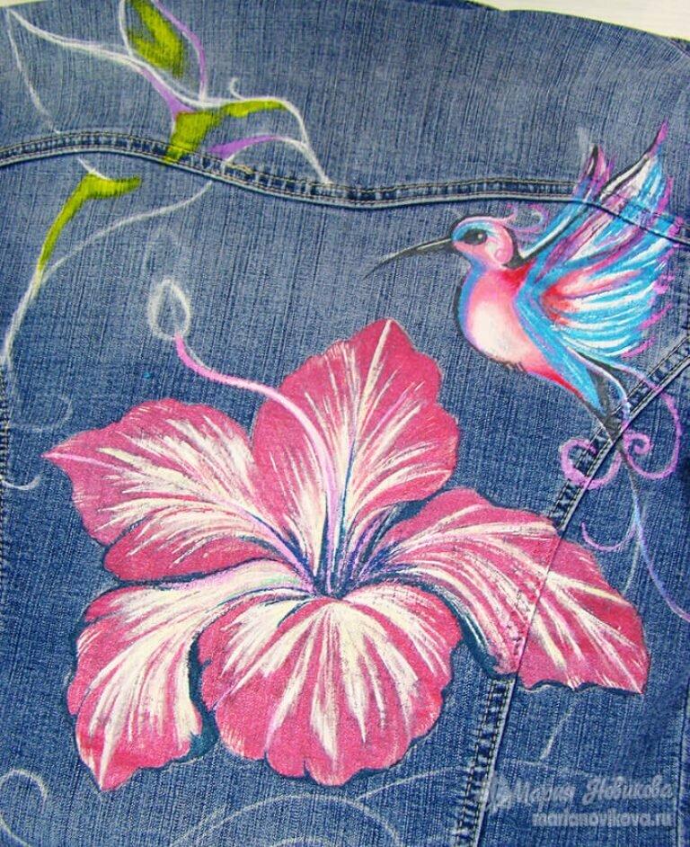 Картинки росписи по ткани акриловыми красками