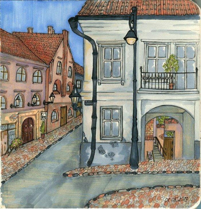 старые города рисунки данном разделе