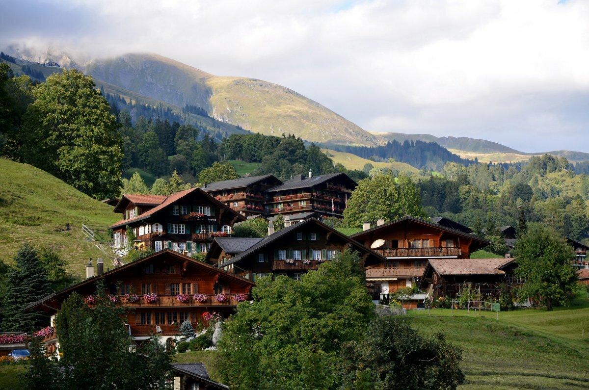 слухов обои на рабочий стол альпийская деревня культура