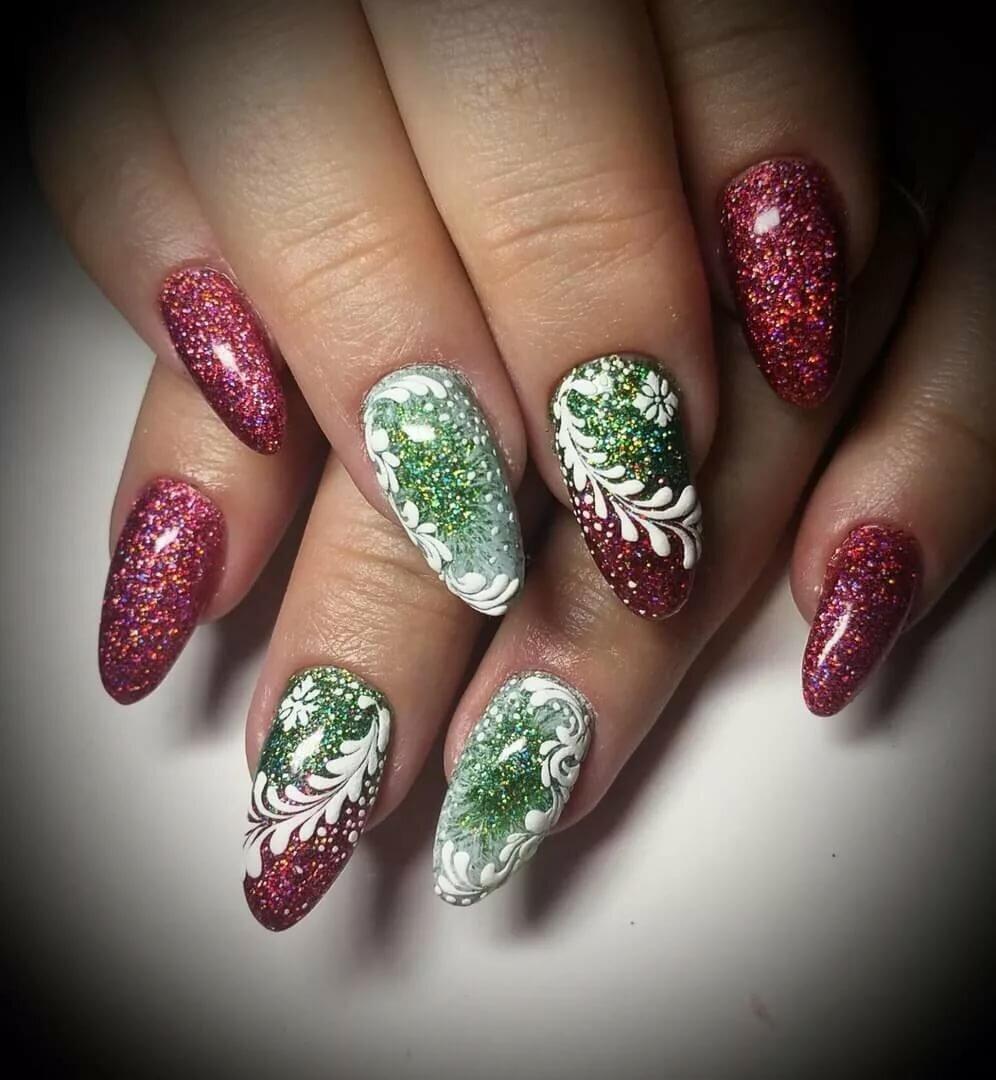 желаю новогодний дизайн ногтей картинки фото кисти расположены спирали