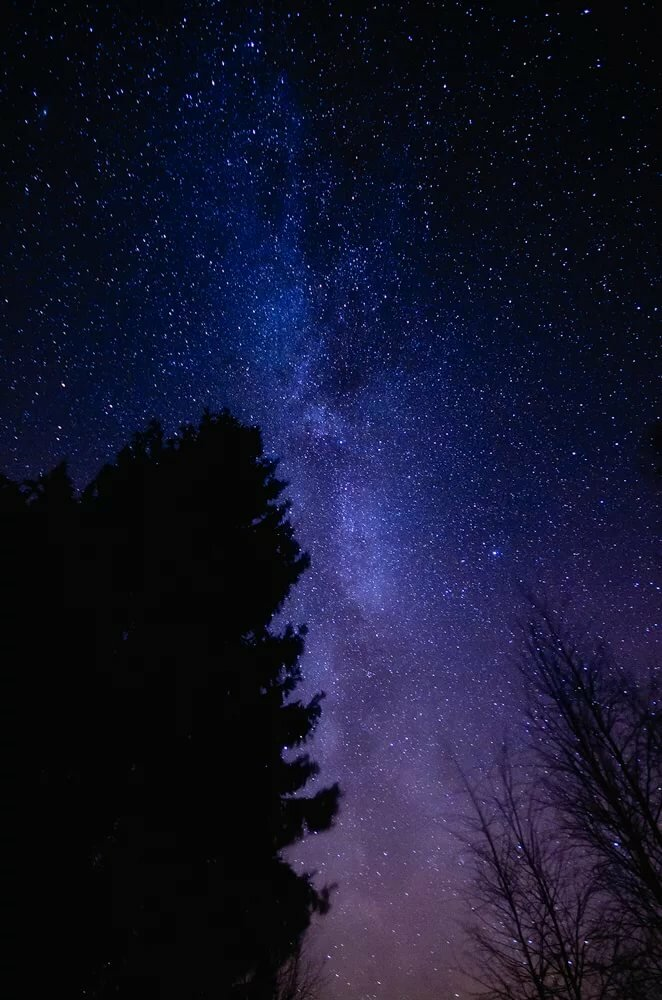 как сфотографировать ночное небо на телефон пленки