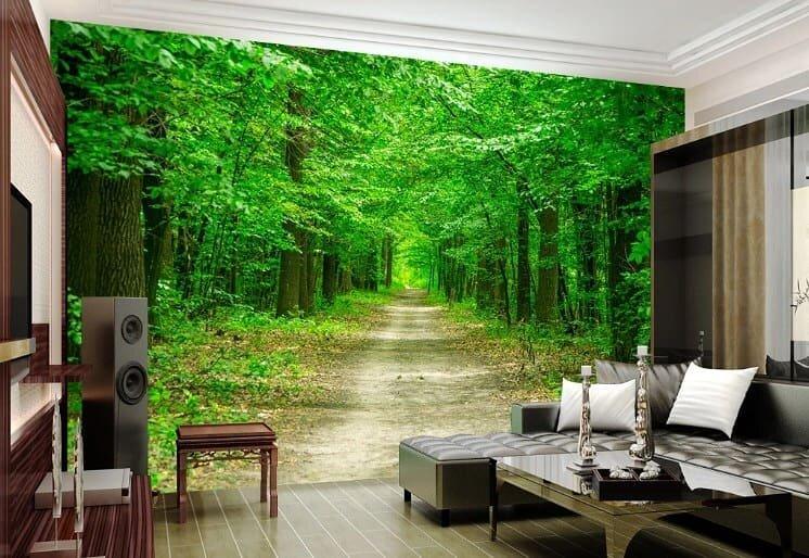 фотопанно с лесом желаю счастья разного