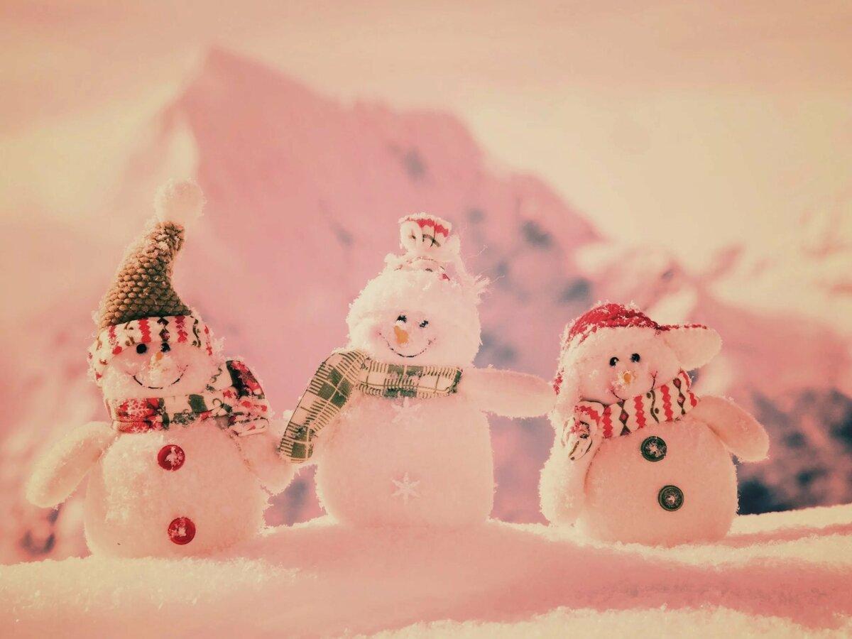 Картинки на рабочий стол на весь экран снеговики