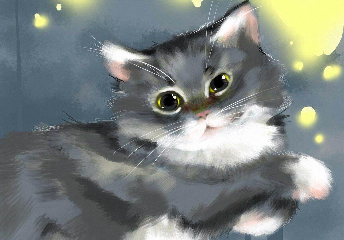Котейки рисунки картинки