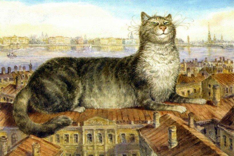 коты в питере художник