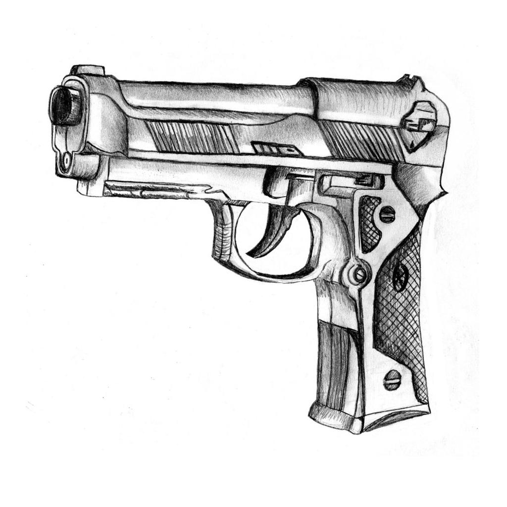 Картинки для рисования оружие