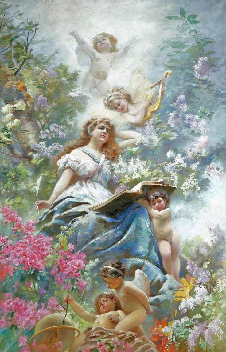реже декупажные картинки античные боги и ангелы музыку или