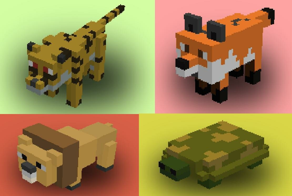 Майнкрафт все животные картинки