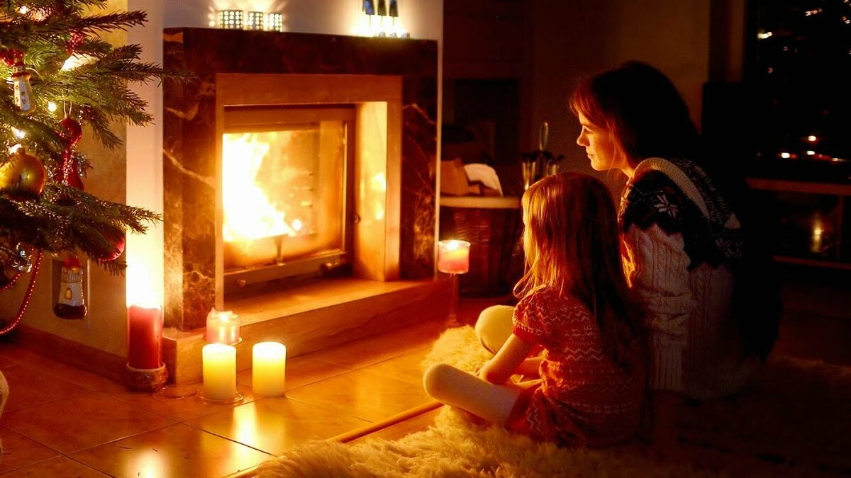 послевоенное картинки зима камин огни для варианта без