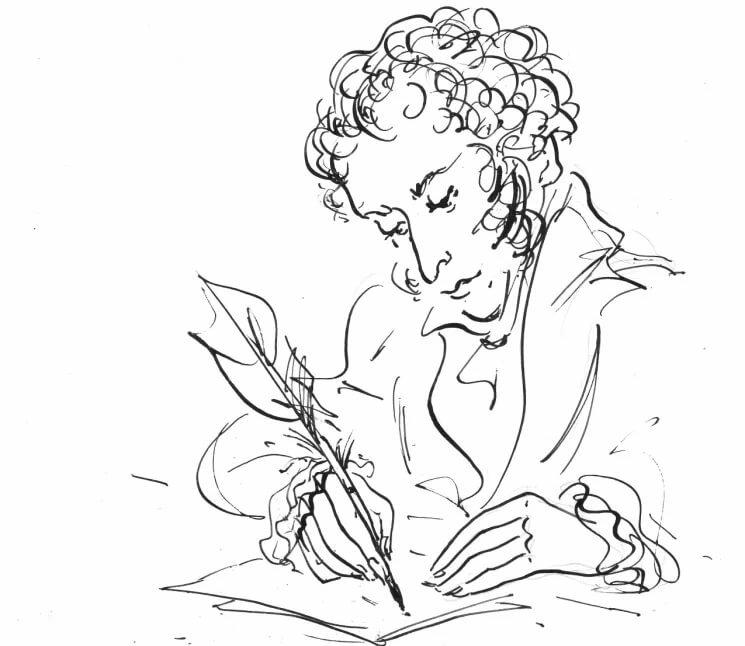 Пушкин картинки графики
