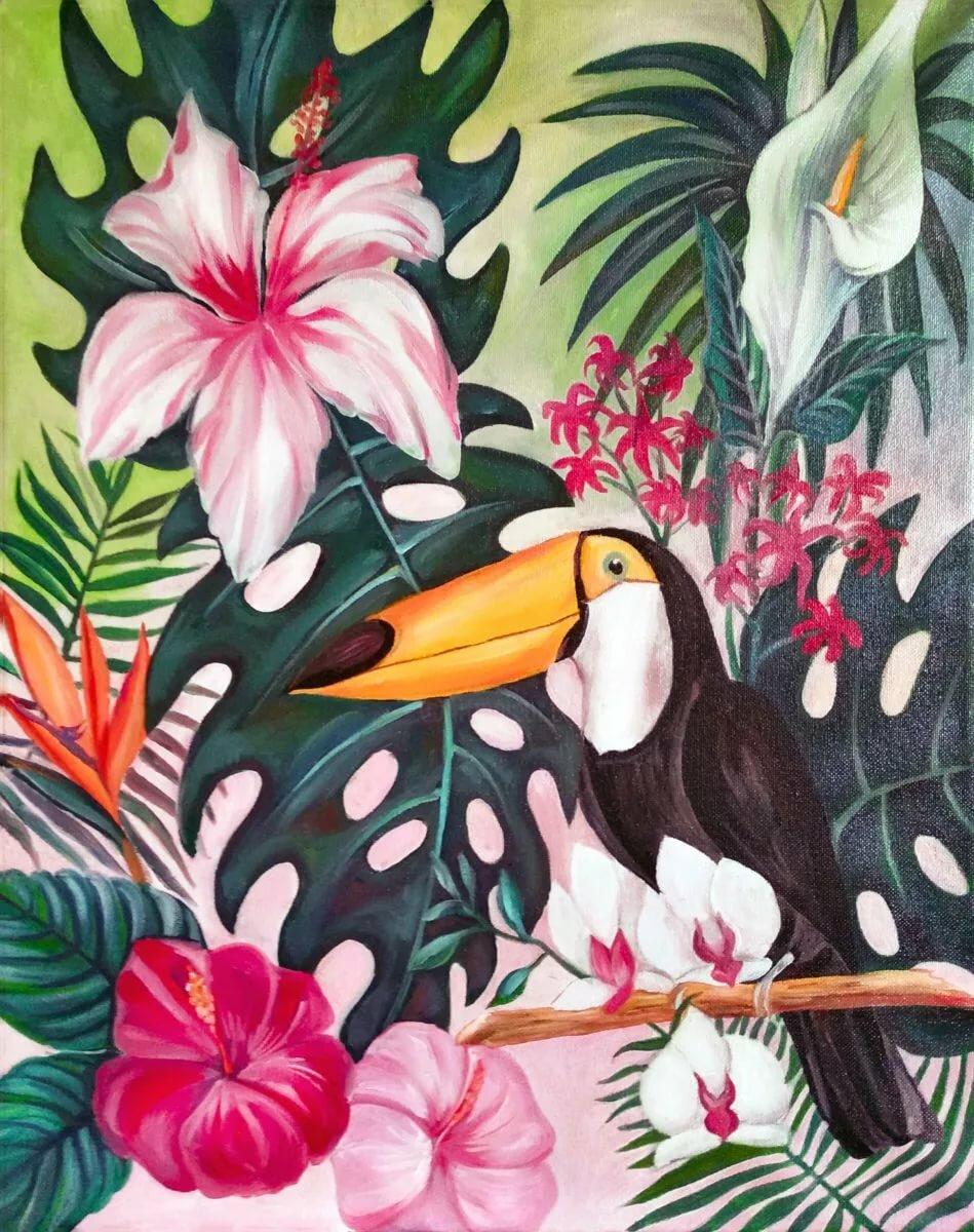 представить батик птицы тукан озер островов здесь