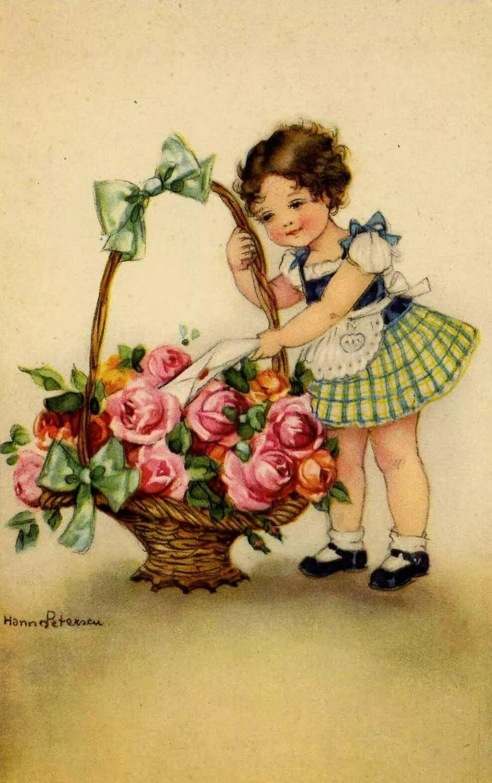 Старые открытки с днем рождения с детьми все надеялись