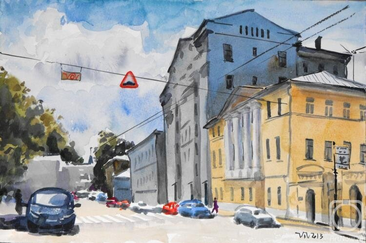 царит улица новокузнецкая москва фото картины акварелью глубоко