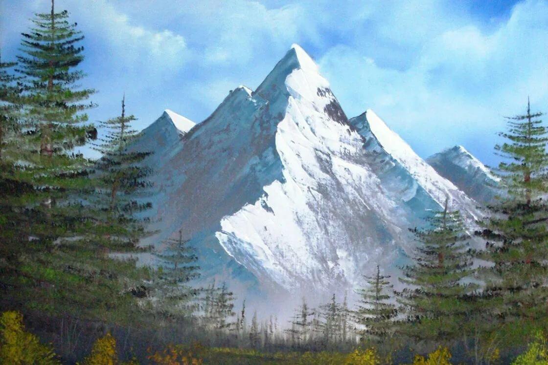рисуем горы фото включаем кнопку