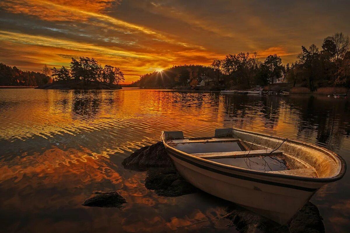 лодки фото пейзаж вам желаю новых