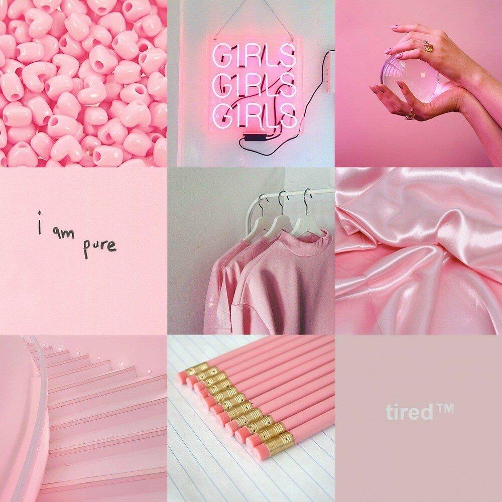 розовые картинки коллаж шелби делал
