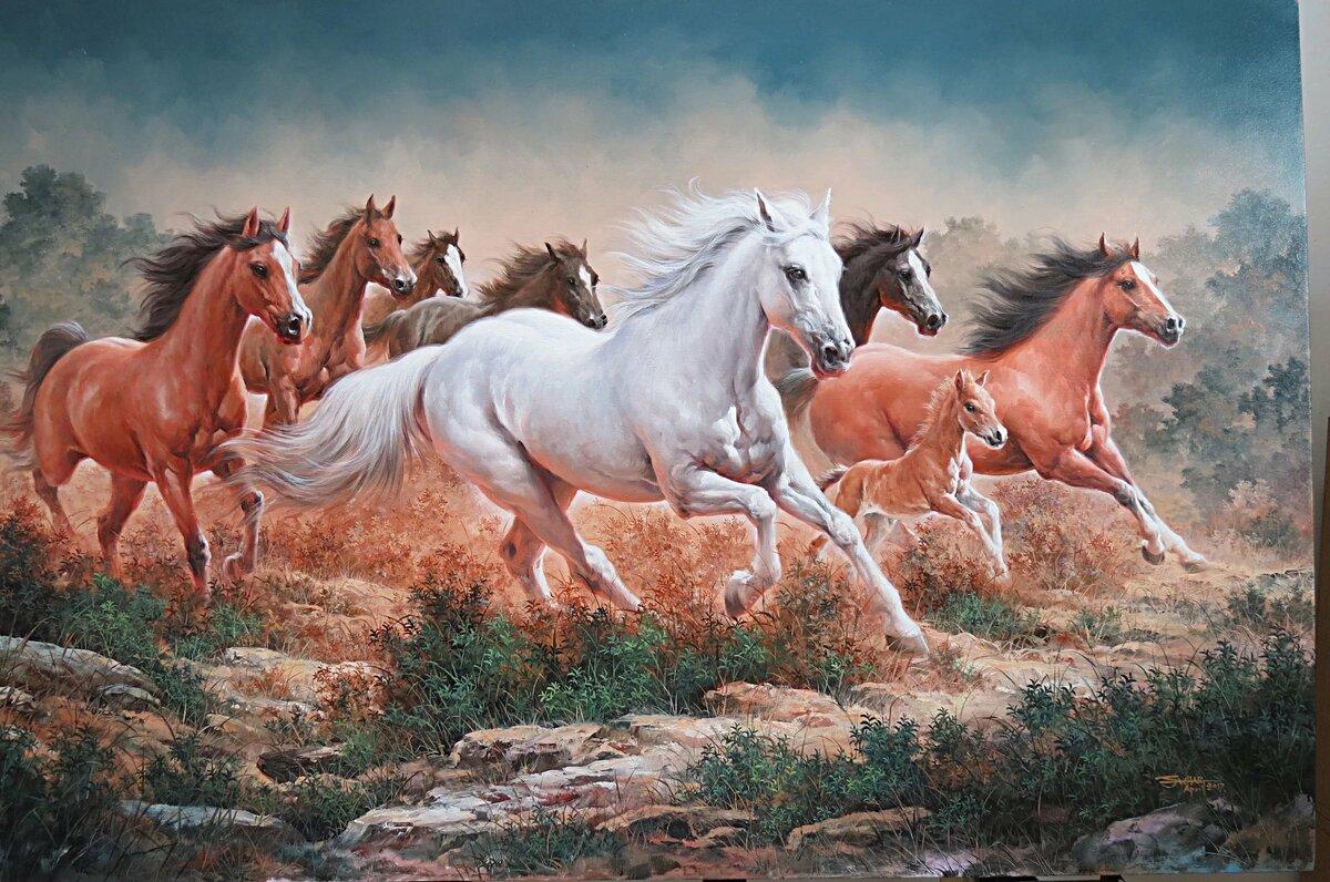 Картинки картин лошадей